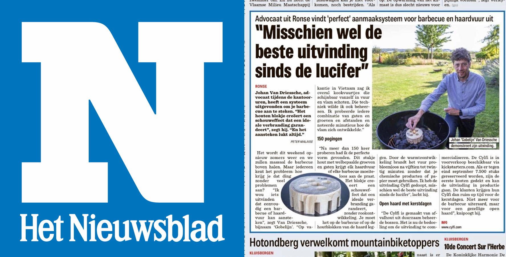 Cylfi in het Nieuwsblad