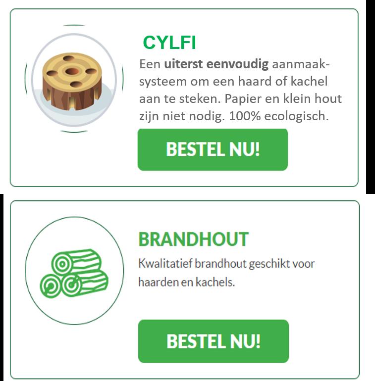 Cylfi nu te koop in combinatie met brandhout
